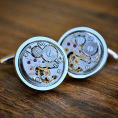 Boutons de manchettes mouvement Rolex Watch par JFoxCufflinks