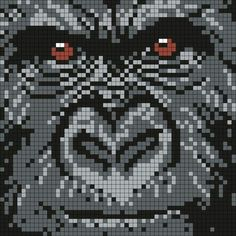 Animal gorilla cross stitch.