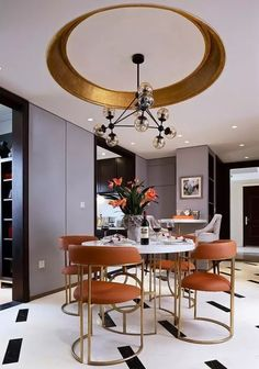 Dining room decor always need a luxurious suspension lamp.  Discover more luxurious interior design details at http://luxxu.net: