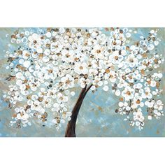 Found it at Wayfair - White Cherry Blossom by Jolina Anthony Painting Print on Wrapped Canvas