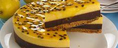 Adoce sua vida com essa Torta-Musse de Maracujá e Chocolate de dar água na boca!