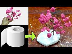 como fazer ramos de arvore de papel higiênico - YouTube Diy Flowers, Paper Flowers, Mini Plants, Fairy Garden Houses, Mini Things, Diy Home Crafts, Diy Dollhouse, Texture Painting, Flower Making