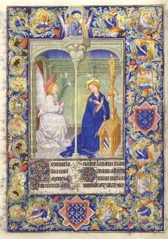 Limbourg Brothers,Annunciation,Bells Heures of the Duke of Berry.