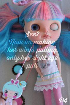 Blinky wink eye tutorial / Blythe