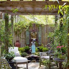 Outdoor patio pergola arbors 48 ideas for 2019 Pergola Patio, Backyard Patio, Backyard Landscaping, Backyard Hammock, Pergola Kits, Outdoor Rooms, Outdoor Gardens, Outdoor Living, Small Outdoor Spaces