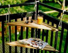 praktische balkonmöbel balkontisch ecktisch
