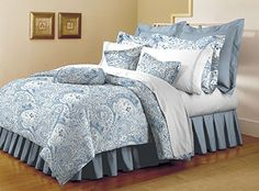 Mellanni Bed Sheet Set - HIGHEST QUALITY Brushed Microfiber 1800 Bedding - Wrinkle, Fade, Stain Resistant - Hypoallergenic - 4 Piece (Cal King, Paisley Blue) -- Click image to review more details.