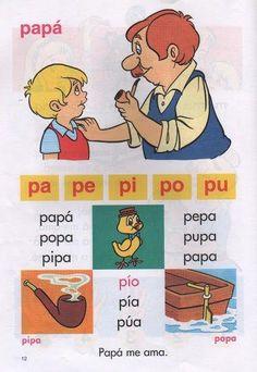 Silabario en fichas para aprender a leer.