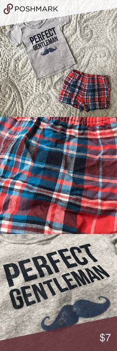 Carter's Shorts and Shirt Set Carter's Shorts and Shirt Set. Size 3 Months. Shorts only worn once or twice. Shirt worn a few more times separately and mustache felt-like material has washed off some. Shorts have a pinkish reddish color print. ❤️💙 Carter's Matching Sets