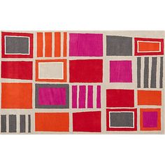 pegs rug in give cool | CB2.