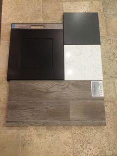 espresso cabinets, moonlight granite, white subway tile