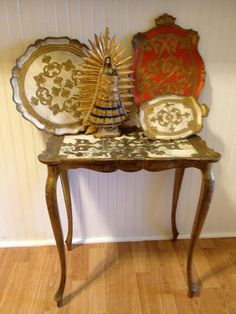 Vintage Florentine Trays and Table Instant by agelessalchemy