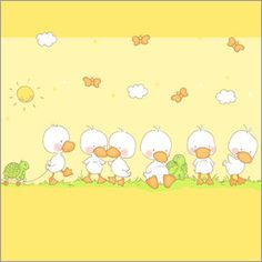 Fluffy Feelings - Turtles and Ducklings