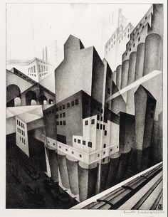 Louis Lozowick, Minneapolis (1925). Smithsonian American Art Museum