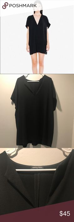 American Apparel shirt dress Crepe material. Great condition! Size M/L American Apparel Dresses Mini