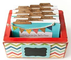 Baby or Family Perpetual Calendar Daily Journal Box - Dr. Suess theme