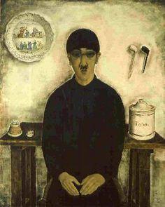 Tsuguharu Foujita (Japanese-French: 1886-1968) - Self Portrait, 1921