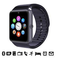 Oferta: 22.99€ Dto: -51%. Comprar Ofertas de GSTEK Reloj Inteligente Bluetooth Smart Watch Teléfono Inteligente Pulsera con Cámara Pantalla Táctil Soporte SIM / TF para A barato. ¡Mira las ofertas!