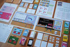 Kit à imprimer pour jouer à la maîtresse printable cadeau anniversaire original
