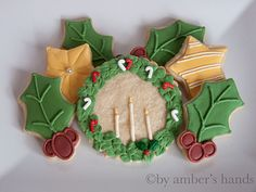 images of decorated christmas cookies | Decorated Cookies | by amber's hands