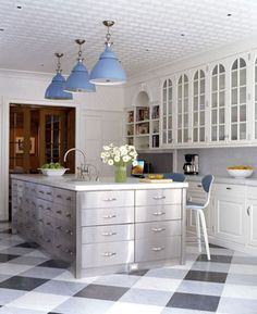 Painted Floors ...  I am loving the idea of painted floors these days!