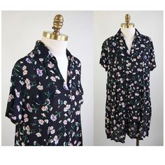 Semi-Sheer Rayon Daisy Print Onesie // 90s by winsomeandwayward, $35.00