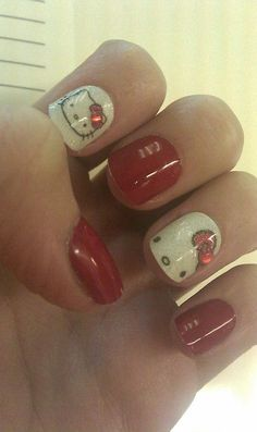 5 Hello Kitty Nail Designs I Like Most   Young Craze
