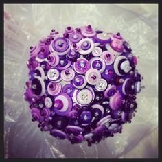 Shades of Purple Button Bouquet