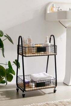 A pretty bathroom cart to stash beauty products and towels on, especially if you have a pedestal sink with zero cabinet space. 28 Gorgeous Pieces Of Furniture That Are Perfect For Small Spaces Bathroom Cart, Layout Design, Metal Structure, Apartment Furniture, Studio Apartment Storage, Bathroom Furniture, Kitchen Essentials, Furniture For You, Urban Furniture