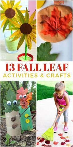 Enjoy the beautiful autumn colors with these fun fall leaf activities and crafts for kids. Autumn Activities For Kids, Thanksgiving Crafts For Kids, Autumn Crafts, Nature Activities, Toddler Crafts, Preschool Crafts, Diy Crafts For Kids, Sewing Projects For Kids, Sewing For Kids