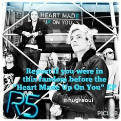 "Repost if you were in this fandom before ""Heart Made Up On You"" EP! I was here before Loud"