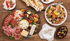 Stefano Fiata Ultimate antipasto platter with seafood salad! Perfect for when my husbands italian family comes over! :)