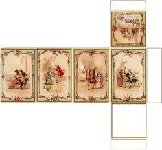 Boite rectangulaire haute images XVIIIème création Pascale Appiani                                                                                                                                                                                 More