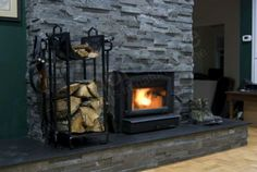Fireplace Stacked Stone Cladding Fire place Surrounds hearths feature walls burners natural rock panel uses design ideas product veneer wall Stone Veneer Panels, Thin Stone Veneer, Rock Panel, Slate Fireplace, Fireplace Refacing, Fireplace Ideas, Natural Stone Cladding, Brick Face, Stacked Stone Fireplaces