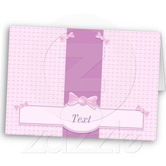 Pink #card with #candies for #babyshower from Zazzle.com