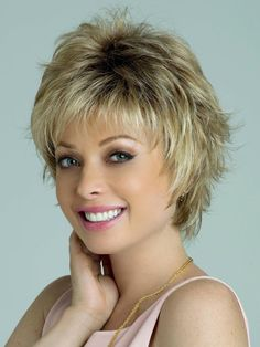 The Winter Synthetic Wig by Rene of Paris is a short sophisticated wispy layered style that is face flattering and modern. Short Shag Hairstyles, Short Layered Haircuts, Short Hairstyles For Women, Hairstyles With Bangs, Asian Hairstyles, Pixie Haircuts, Edgy Haircuts, Blonde Hairstyles, Pretty Hairstyles