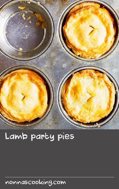"Lamb party pies | These party pies are a lamb version of Australia's favourite beef pie – named the country's ""national dish"" by former NSW Premiere Bob Carr in 2003. As early as the mid-1800s, 'Pie Men' – push-cart vendors selling pies from a tin box kept warm by a charcoal stove – were a common sight in Sydney and Melbourne. Today, Australians consume, on average, 12 meat pies each per year."