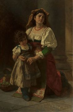 .;. CARL LUDWIG FRIEDRICH BECKER (1820-1900). Mother and Child, 1878