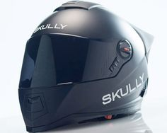 the skully AR-1 is a safety-focused motorcycle helmet with rear camera