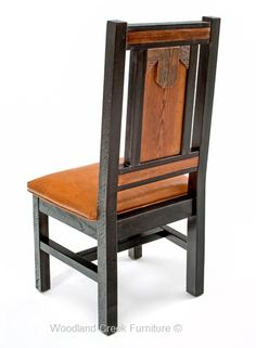 Refined Rustic Barn Wood Dining Chair