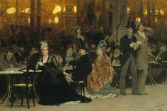 A Parisian Cafe, Ilya Repin