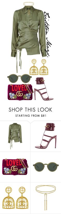 """""""Money On The Runway."""" by monroestyles ❤ liked on Polyvore featuring Nicholas K, Gucci and Vintage"""