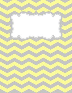 Free printable yellow and gray chevron binder cover template. Download the cover in JPG or PDF format at http://bindercovers.net/download/yellow-and-gray-chevron-binder-cover/