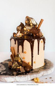 DIY drippy chocolate cake