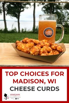 Everyone knows Wisconsin is famous for its cheese, especially when it's fried. Who could pass on gooey, fried cheese? Check out this list for some of the top choices throughout Madison for cheese curds. Chevre Cheese, Cheese Curds, Fried Cheese, Cheese Fries, Buttermilk Ranch, Pickled Radishes, Honey Sauce, Beer Batter, Best Cheese
