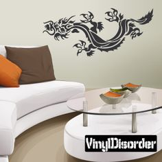 Tribal Dragon Wall Decal Vinyl Decal Car Decal CF Car - Custom vinyl wall decals dragon