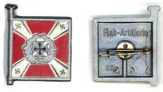 Flak-Artillerie___This set was sold on the and March 1940 (Tag der Wehrmacht)__ADV_Source: J Temple-West Charitable Donations, Pin Badges, Temple, Third, March, German Language, Temples, Mars