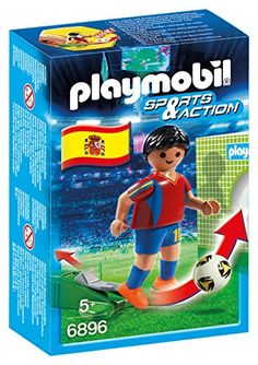 From 4.72 Playmobil 6896 Sports And Action Football Player Spain Figure