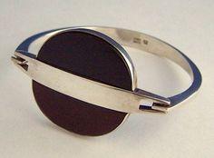 Danish Modernist Sterling Bracelet N.E. From