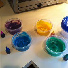 Homemade finger paints!